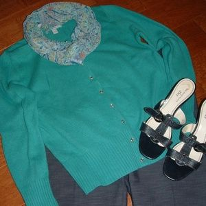 Old Navy Size L Teal Green Cardigan